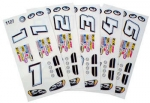 1/24 Stock Car Decals - Type D - 6 Sheets - #757D