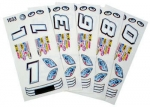 1/24 Stock Car Decals - Type F - 1 Pc - #757FS