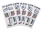 1/24 Stock Car Decals - Type T - 1 Pc - #757TS