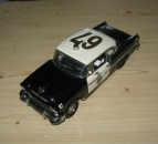 1955 Chevrolet Bel Air - Police Chief Special, Black & White w/ FOP Graphics, 1/24 Diecast, Franklin Mint B11UZ87