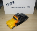 1940 Ford Hot Rod Coupe, Midnight Blue w/ Flames, 1/24 Diecast, Danbury Mint DM0935