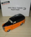 1941 Chevrolet Custom Panel Truck, Black & Orange, 1/24 Diecast, Danbury Mint 1227