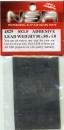 Self adhesive Lead Weight 50 x 80 x 1.0mm, NSR4829