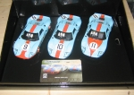 Legends Ford GT40 LeMans 1968 - Gulf Triple Pack - Limited Edition, 1/32, Scalextric C3896A